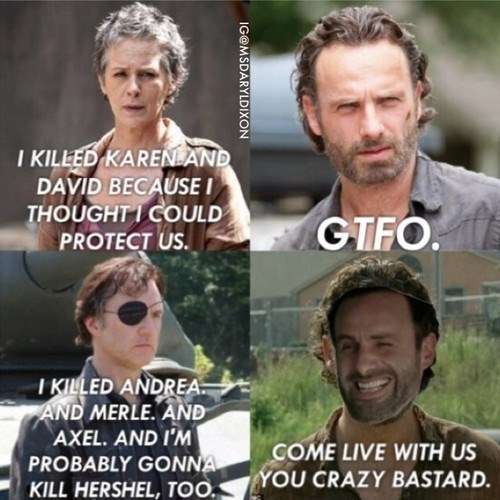 the governor,Rick Grimes,carol peletier