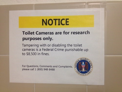 NSA,bathrooms,prism,spying