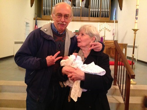 Babies baptism parenting grandparents