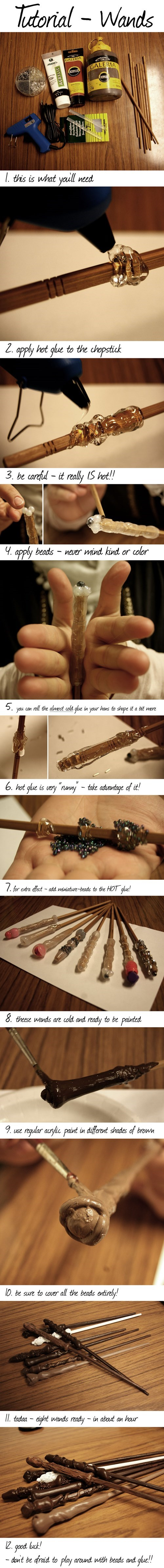 DIY Harry Potter wands - 7948717824