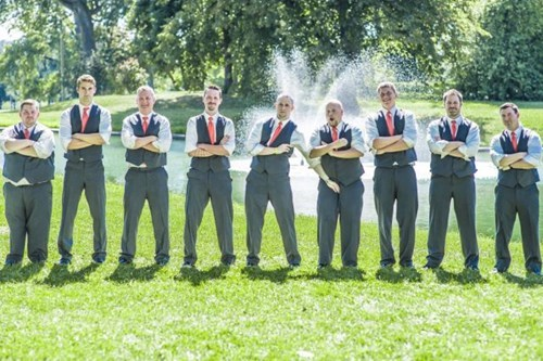 Groomsmen,weddings,perfectly timed