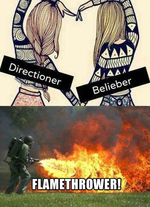 flamethrowers justin bieber one direction Music