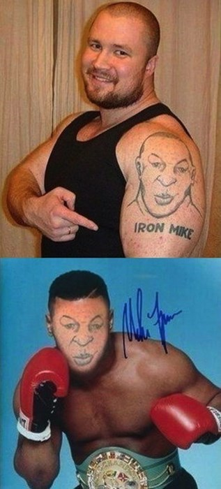 bad,mike tyson,portraits,tattoos
