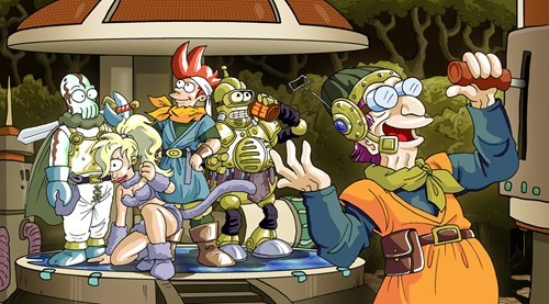 crossover,futurama,Chrono Trigger,Fan Art,video games