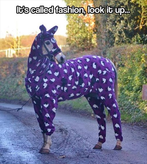 fashion cold pajamas horses - 7948803072