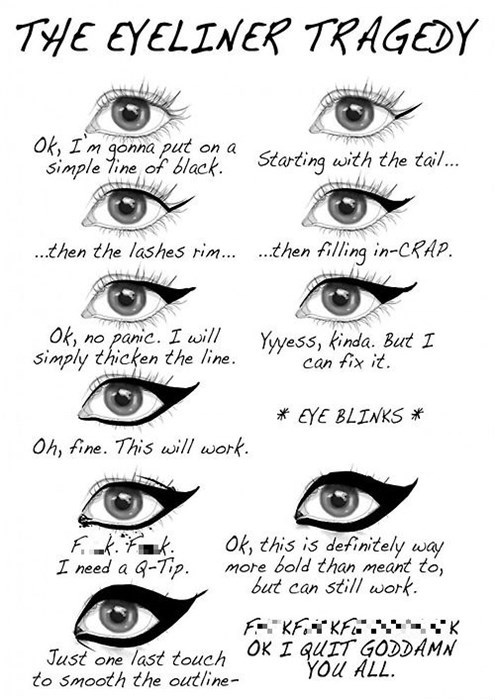 fashion Chart eyeliner makeup