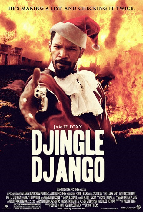 django unchained,christmas,parody sequel