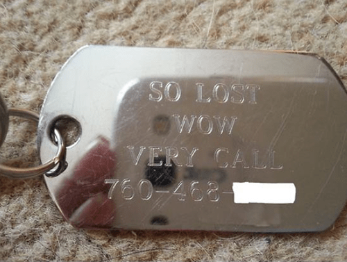doge lost dog lost doge dog tags - 7948900352