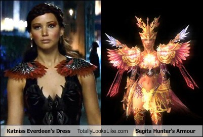Katniss Everdeen's Dress Totally Looks Like Segita Hunter's Armour