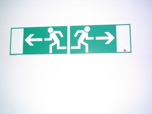 Emergency Exit,signs,there I fixed it