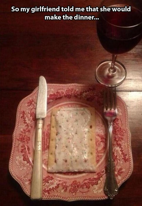 pop tarts,relationships,dinner,dating
