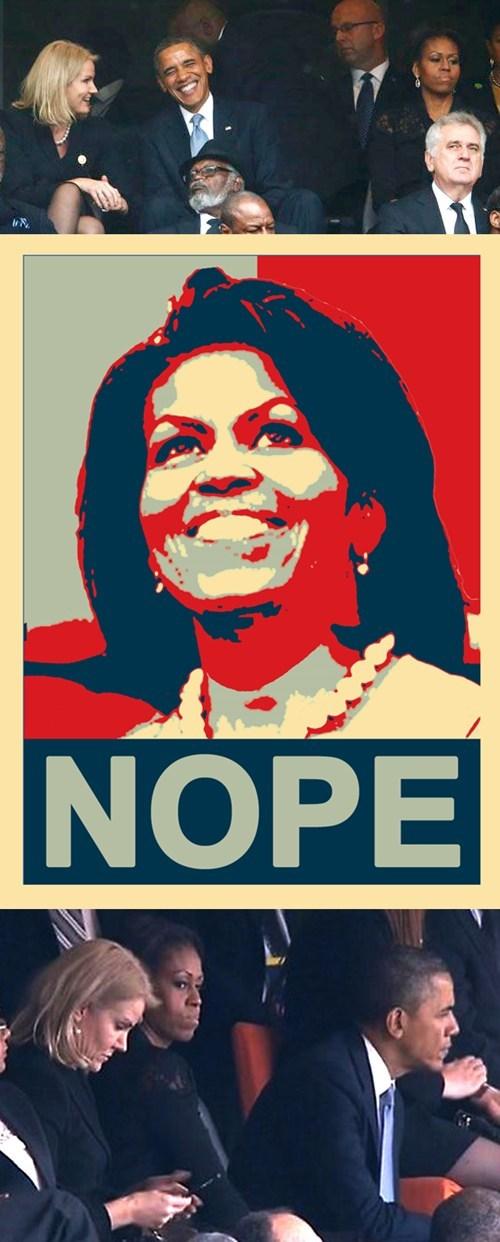 selfie obama nope Michelle Obama - 7950222848