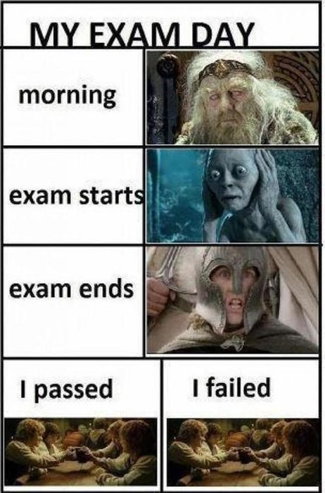 exams Lord of the Rings funny - 7950333184