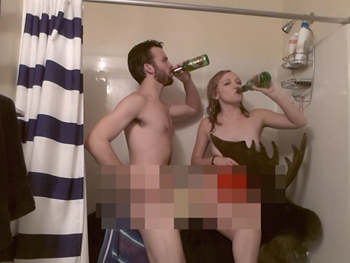 beer sexy times funny shower - 7950352384