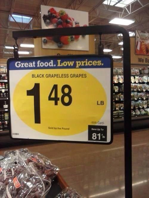 sign grapes fruit