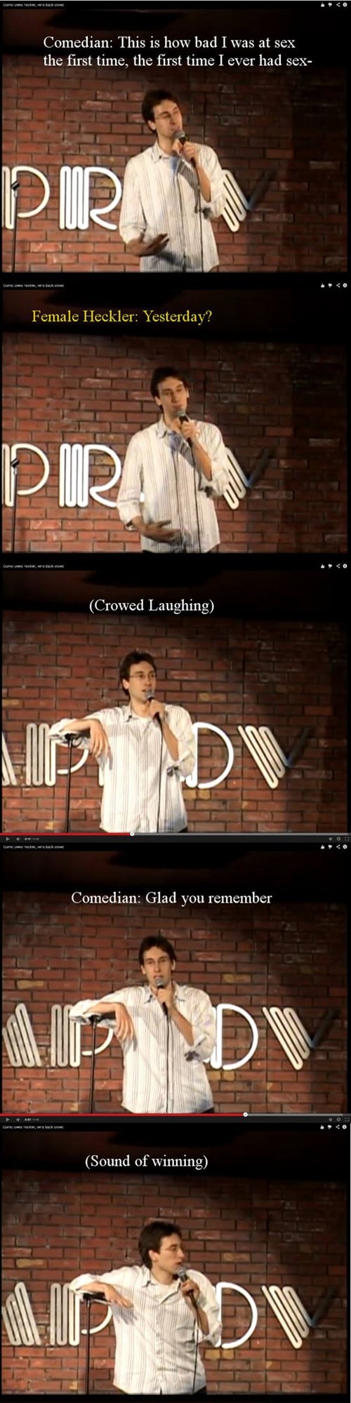 sex Heckler comedians virgins burn - 7950544384