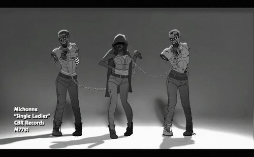 beyoncé,Fan Art,michonne,The Walking Dead