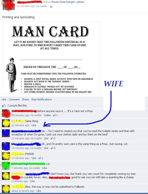 husbands,man card,marriage,twilight,failbook,g rated