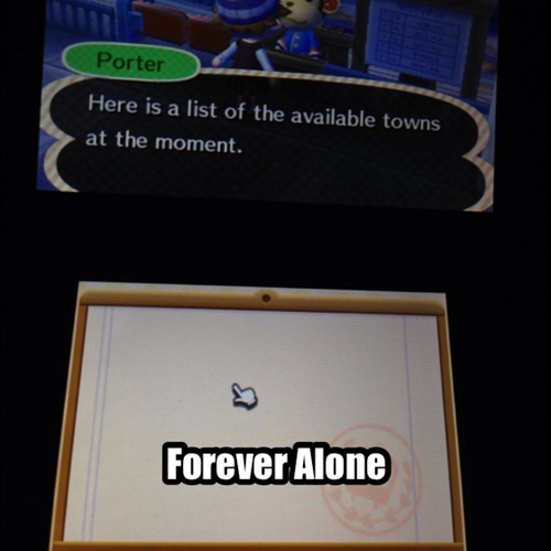 forever alone,animal crossing
