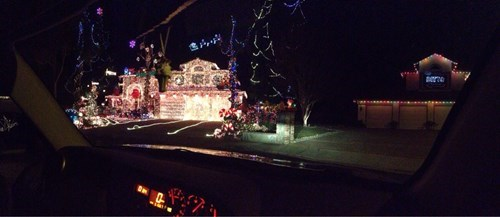 neighbors,christmas decorations,christmas lights