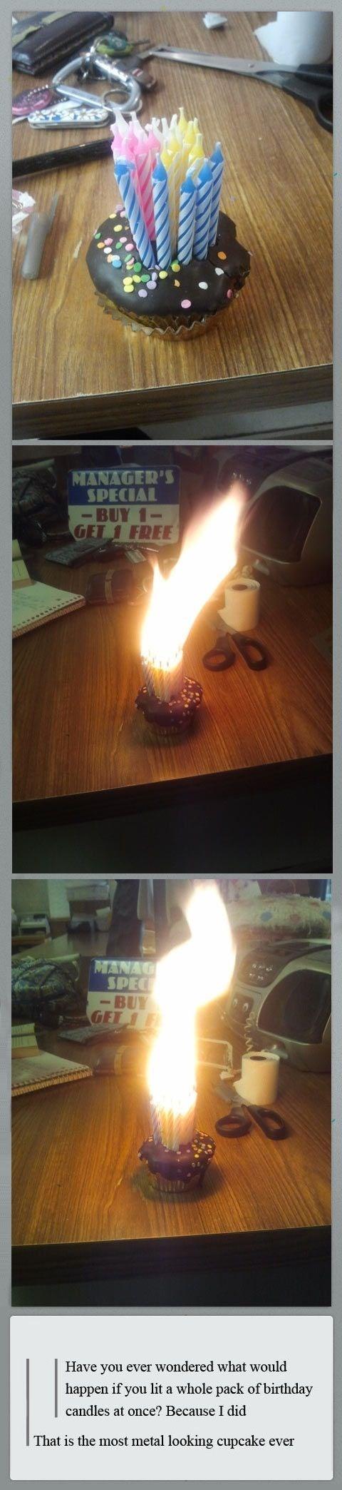 metal candles cupcakes - 7950753024
