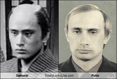 samurai,totally looks like,Putin