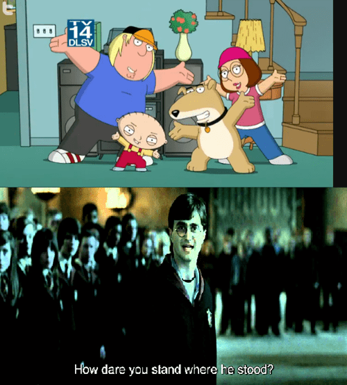 Sad Harry Potter family guy brian cartoons