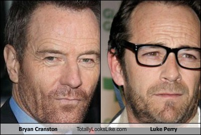 Luke Perry bryan cranston totally looks like
