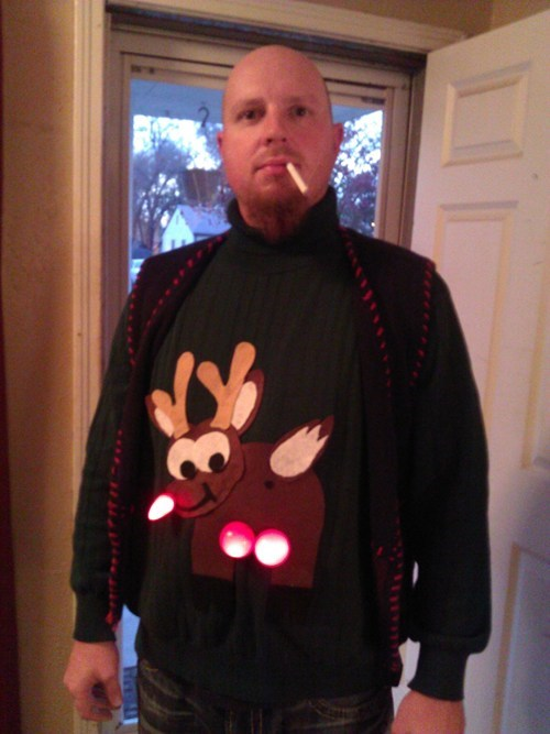 rudolf that looks naughty wtf ugly sweaters - 7951296256