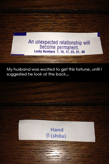 forever alone,relationships,fortunes,fortune cookies,dating