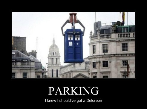 PARKING I knew I should've got a Deloreon