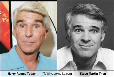totally looks like harry reems Steve Martin