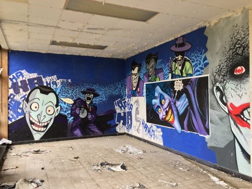 batman superheroes Street Art hacked irl the joker - 7951997696