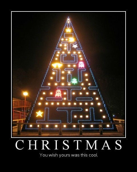 awesome,christmas,funny,pac man