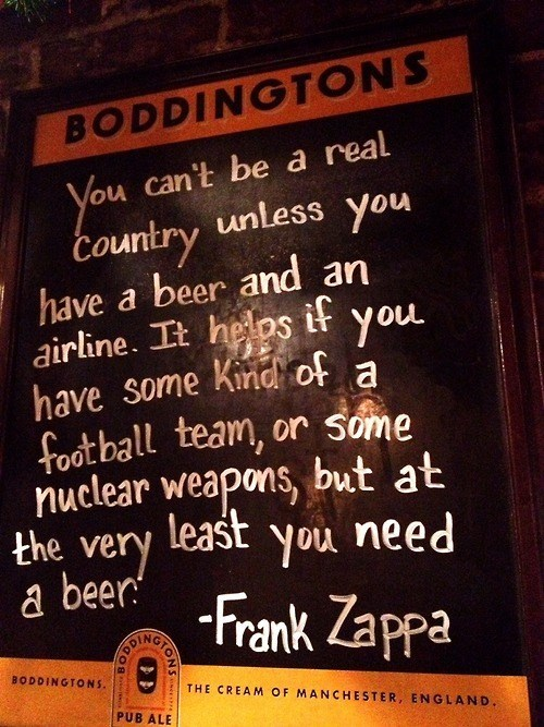 beer,quote,funny,frank zappa