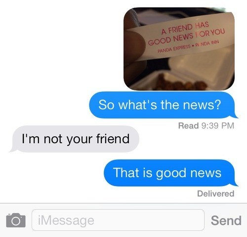 good news friends texting