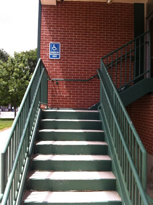 disabled stairs sign - 7952290048