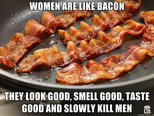 bacon,men vs women,dating,g rated