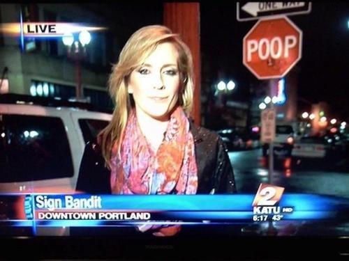 poop portland stop signs stop - 7952340992