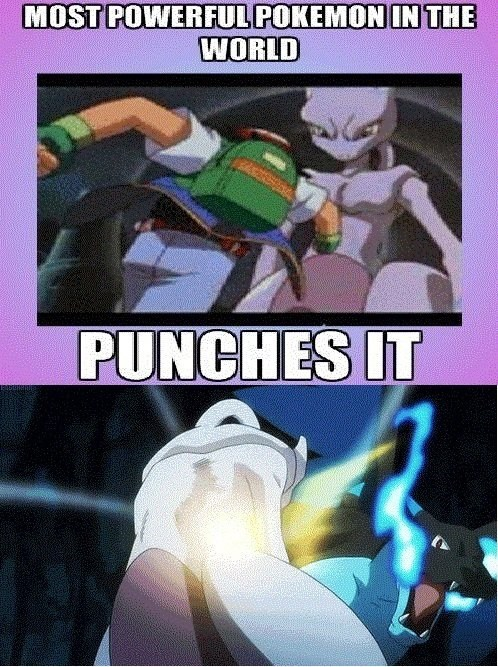 anime mewtwo pokemon logic mega charizard X - 7952408576