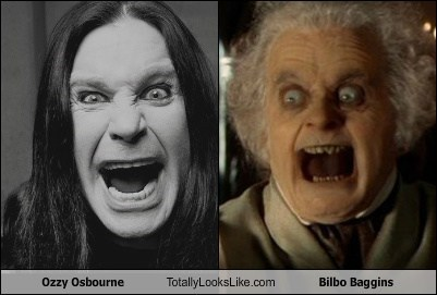 Bilbo Baggins,Ozzy Osbourne,totally looks like
