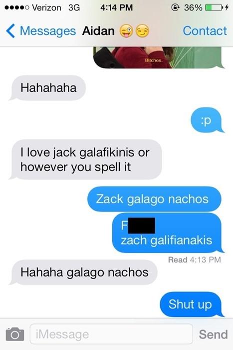 autocorrect Zach Galifianakis text