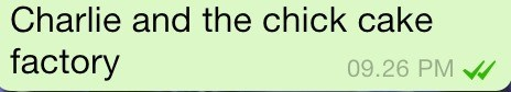 autocorrect Charlie and the Chocolate Factory text - 7953573632