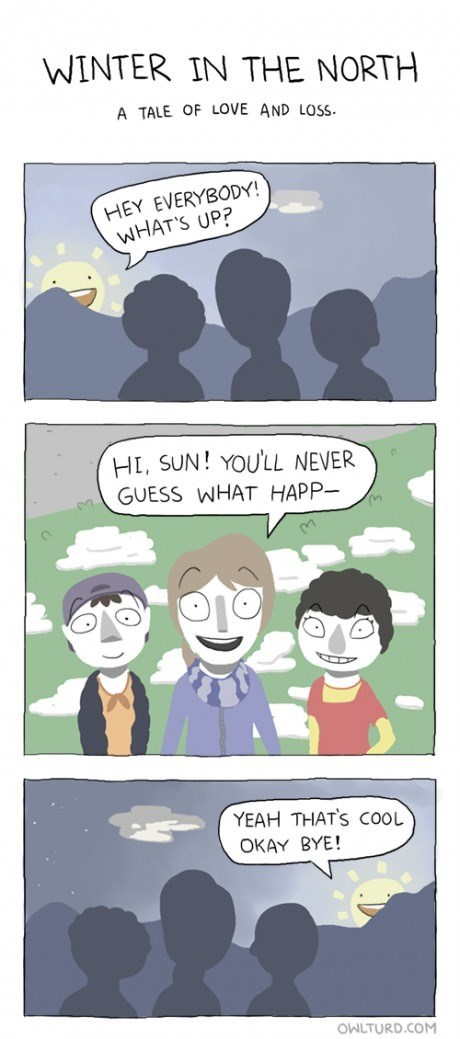 i miss you,winter,The Sun,web comics