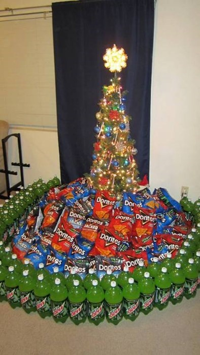 christmas,gamers,mountain dew,christmas trees,doritos