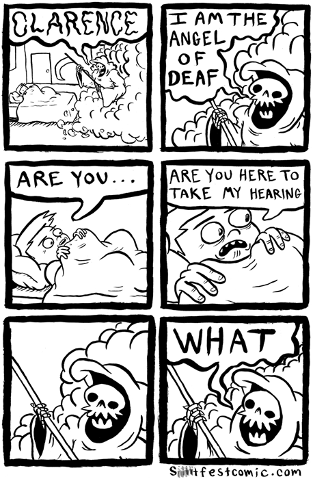 grim reaper puns web comics - 7953892352