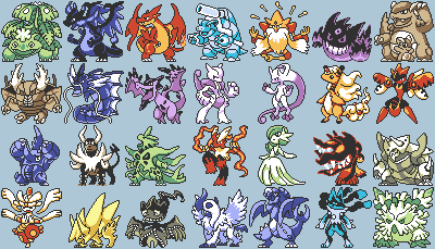 Pokémon,sprites,mega evolutions