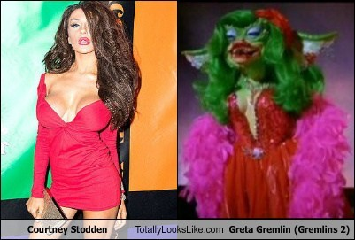 Courtney Stodden,gremlins,totally looks like,greta gremlin
