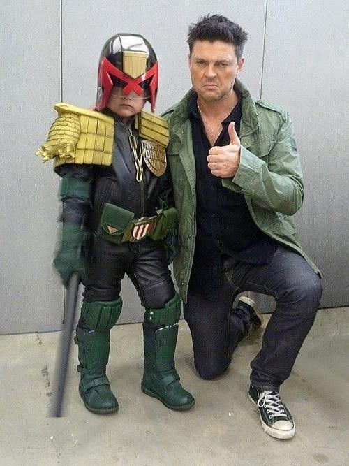 cosplay,kids,judge dredd,celeb