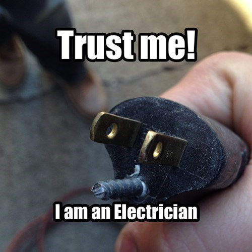electrician,screws,there I fixed it,electric plug